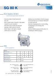 Worm Gearbox SG 80 K - Dunkermotoren