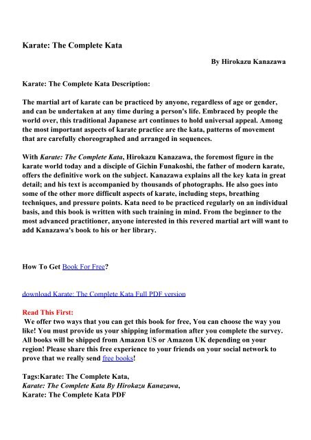 Karate The Complete Kata Pdf Ebooks Free Download