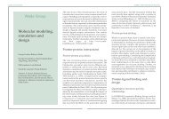 Molecular modeling, simulation and design Wade Group