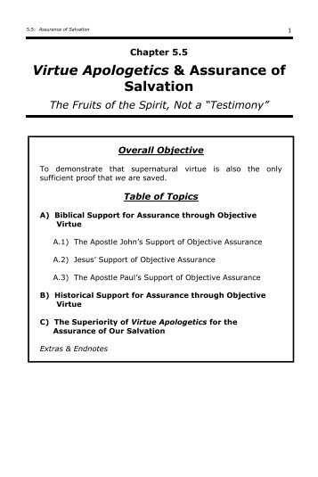 5.5 Apologetics & Assurance of Salvation - Training Timothys