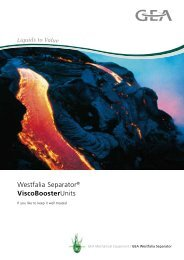 GEA Westfalia Separator® ViscoBoosterUnits - Interempresas