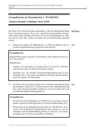 Lösungshinweise zur Einsendearbeit 1: WS 2010/2011 ...
