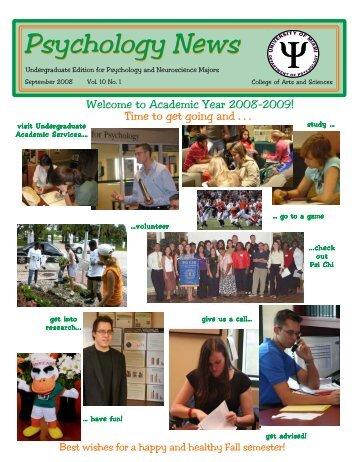 UAS Nwsltr Aug 08.pmd - University of Miami, Psychology