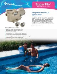 Pentair Superflo Pump Brochure