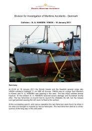 NA HANSEN / VINGA – 18 January 2011 - Danish Maritime Authority