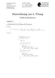 Mustrelösung zur 5.¨Ubung - Technische Universität Darmstadt