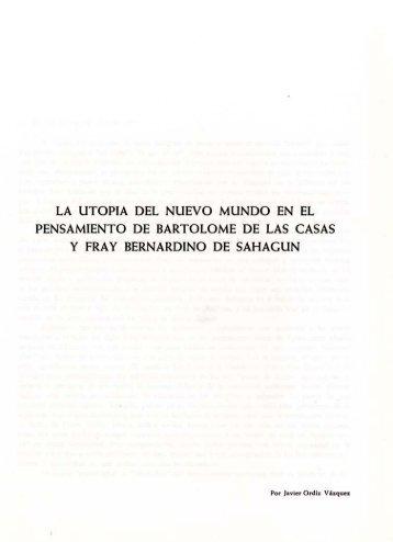 La utopía del nuevo mundo en el pensamiento de Bartolomé de las ...