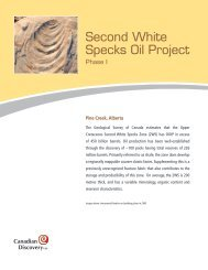 Second White Specks Oil Project, Phase I - Canadian Discovery Ltd.