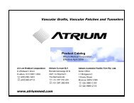 Advanta Ultramax Product Catalog without pricing - Atrium Medical ...