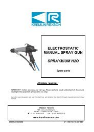 electrostatic manual spray gun spraymium h2o - Kremlin Rexson