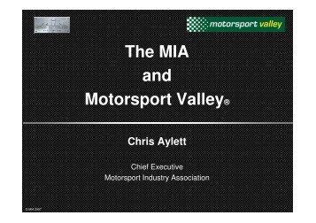 The MIA and Motorsport Valley® - Motorsport Industry Association
