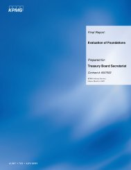 KPMG's Final Report: Evaluation of Foundations - Genome Canada