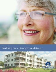 Building on a Strong Foundation - Elim Park