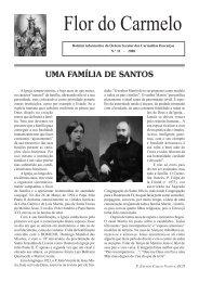 Flor do Carmelo Nº 31 - Ordem dos Padres Carmelitas Descalços