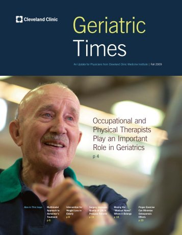 Geriatric Times - Cleveland Clinic - Cleveland Clinic Home