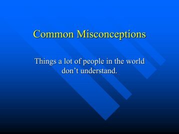 Common Misconceptions PowerPoint
