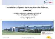 Mikrofluidische Systeme für die Medikamentendosierung