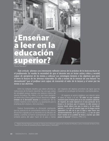 ¿Enseñar a leer en la educación superior? - Revista Docencia