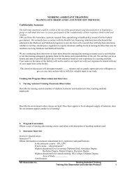 NURSING ASSISTANT TRAINING - PHI