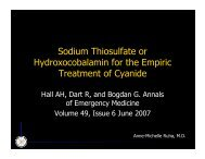 Sodium Thiosulfate or Hydroxocobalamin for the Empiric Treatment ...