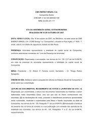CMS ENERGY BRASIL S.A. Companhia Aberta CNPJ/MF nº 02.150 ...