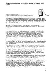Rede HV adidas 2009 Christiane Schnura - Kritische Aktionäre