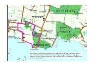 Her kan man se og hente 3 kort med beskrivelser af gå-ruterne ved ...