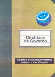 Caderno de Desenvolvimento Urbano e das Cidades
