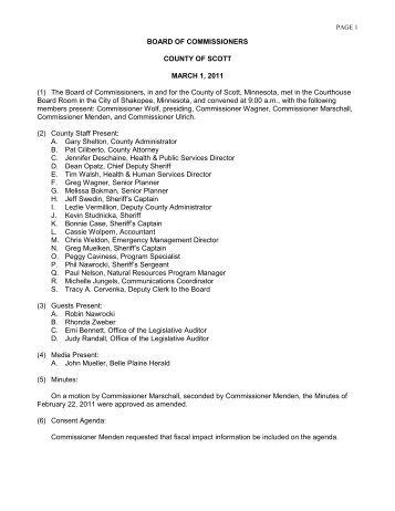 030111 Board Minutes - Scott County