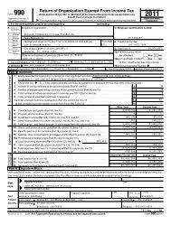 2011 Form 990 - Norwalk Community College Foundation