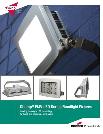 Champ® FMV LED Series Floodlight Fixtures - Cooper Industries