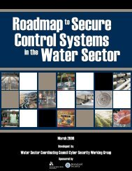 Roadmap to Secure Control Systems in the Water Sector