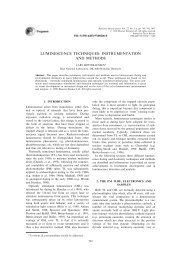 luminescence techniques: instrumentation and methods - LSI