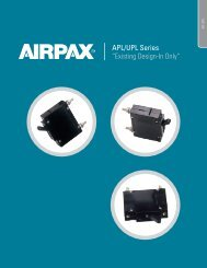 """APL/UPL Series """"Existing Design-In Only"""" - Airpax - Sensata"""