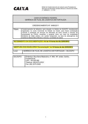 edital cr 6486_2011-leiloeiros gilie_fo - Caixa Econômica Federal