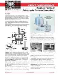 Design and Function of Weight-Loaded Pressure ... - Protectoseal