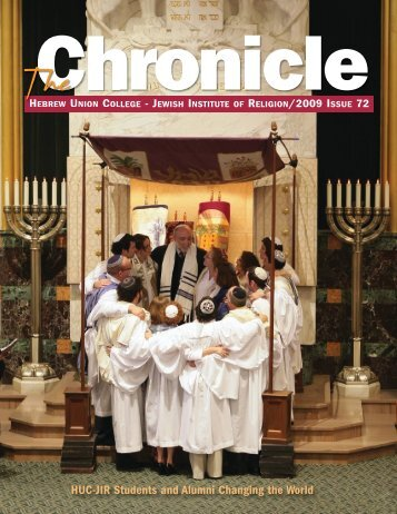 Chronicle #66 cover - Hebrew Union College - Jewish Institute of ...
