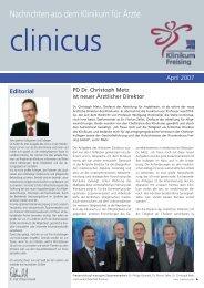 Editorial - Klinikum Freising