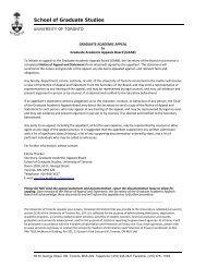 Notice of Appeal - School of Graduate Studies - University of Toronto