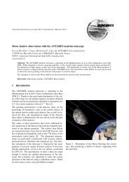 Moon shadow observation with the ANTARES neutrino ... - IN2P3