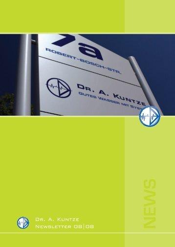News 08/08 - Dr. A. Kuntze GmbH