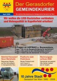 Gemeindekurier April 2009 - Gerasdorf