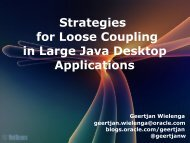 Strategies for Loose Coupling in Large Java Desktop Applications