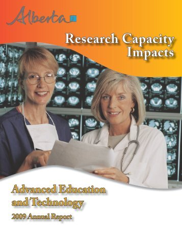 Research Capacity Impacts - Alberta Enterprise and Advanced ...