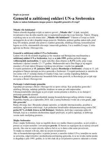 Dopis za javnost - ZZI