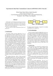 Experiments for Real-Time Communication Contracts in IEEE ...