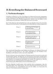 D. Erstellung der Balanced Scorecard