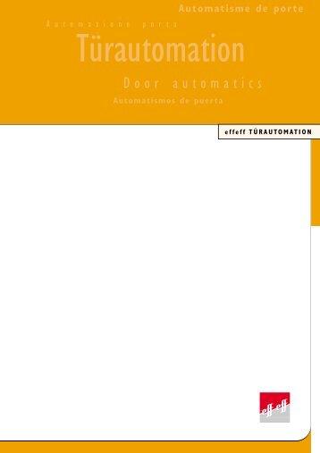 Katalog Türautomatisierung (pdf) - DZ Schliesstechnik GmbH