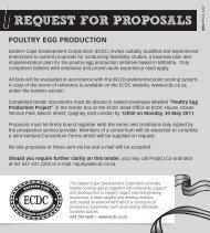 request for proposals - Eastern Cape Development Corporation