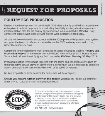Request For Proposal For The Develop Kpi Business Tdm Berhad